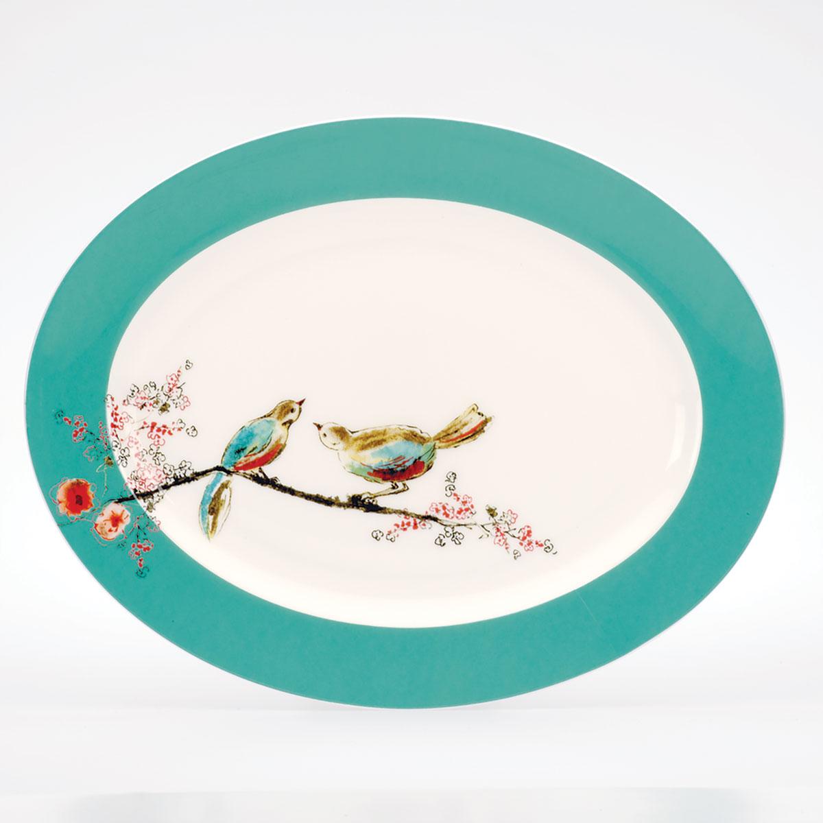 "Lenox Chirp Dinnerware Oval Platter 16"""