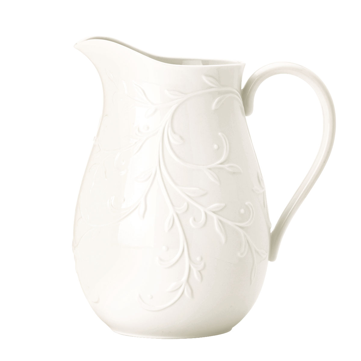 Lenox Opal Inn Carved Dinnerware Pitcher