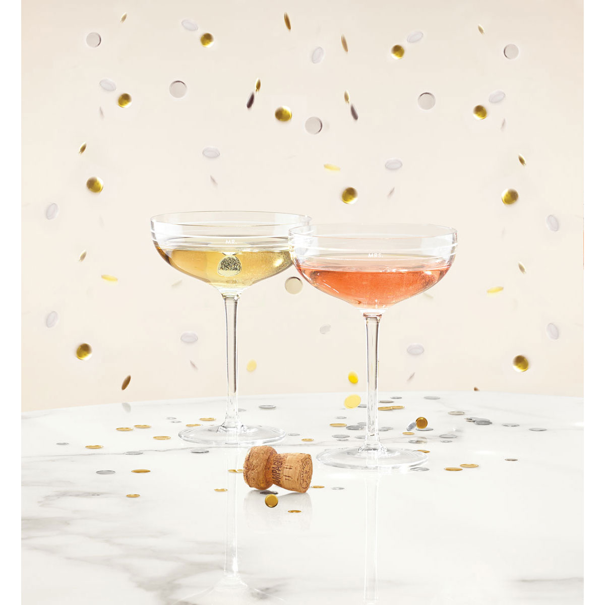 Kate Spade New York, Lenox Darling Point Champagne Saucer, Pair