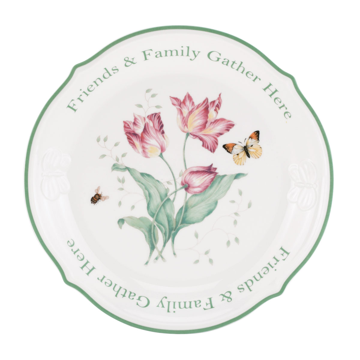 Lenox Butterfly Meadow Dinnerware Sentiment Platter