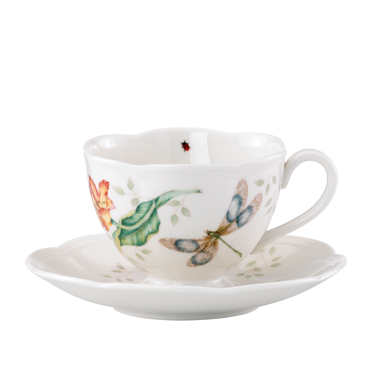 Lenox Butterfly Meadow Dinnerware Dragonfly Cup And Saucer