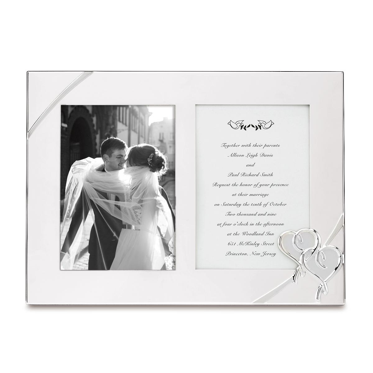 Lenox True Love Double Invitation Picture Frame