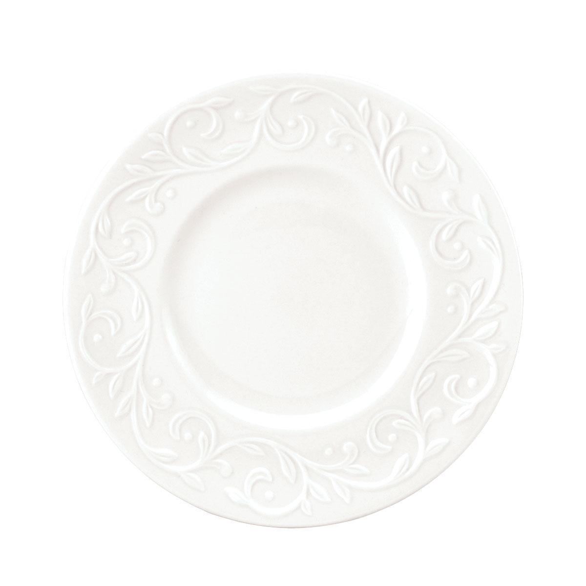 Lenox Opal Innocence Carved Dinnerware Dessert Plates Set Of Four
