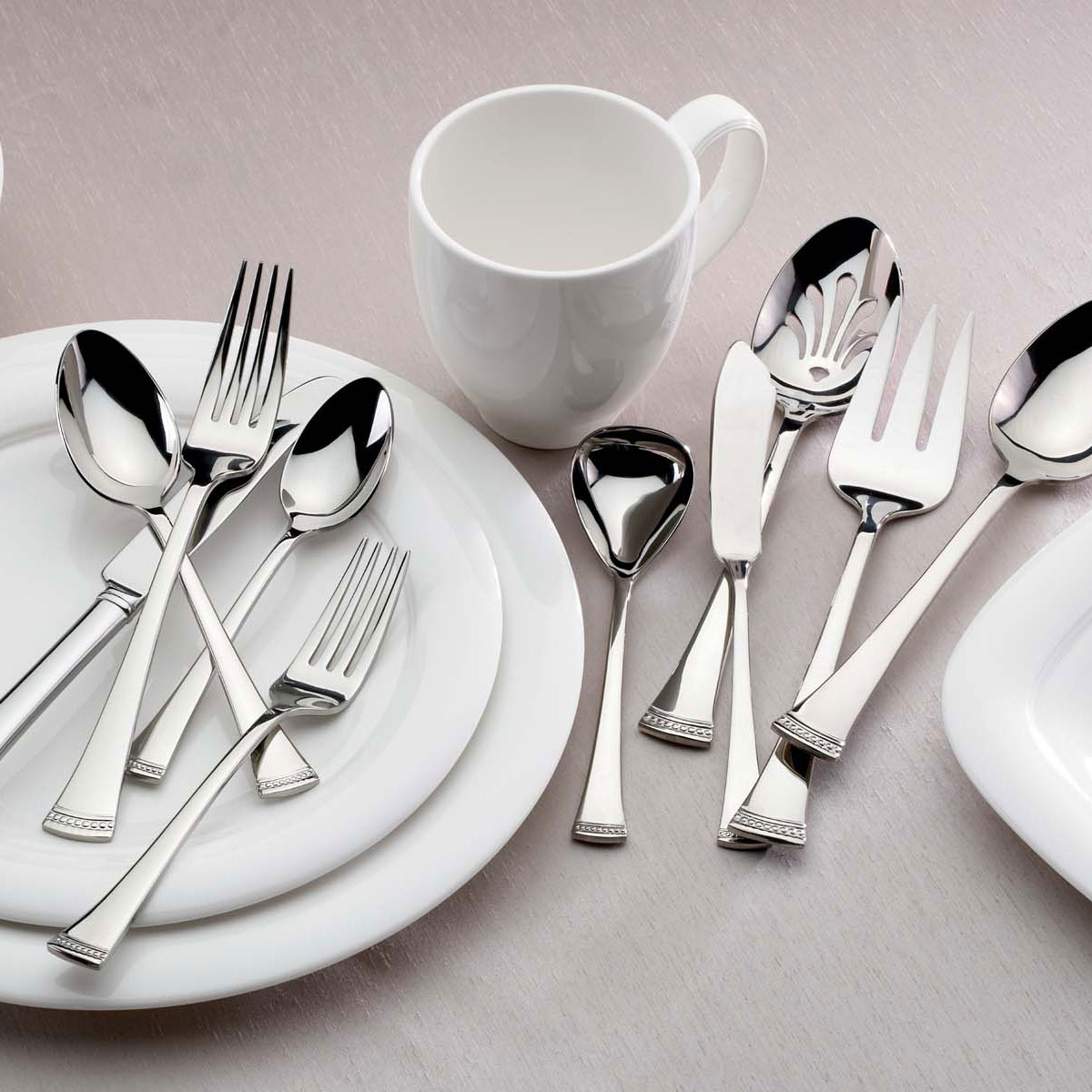 Lenox Flatware Portola 65 Piece Stainless Set