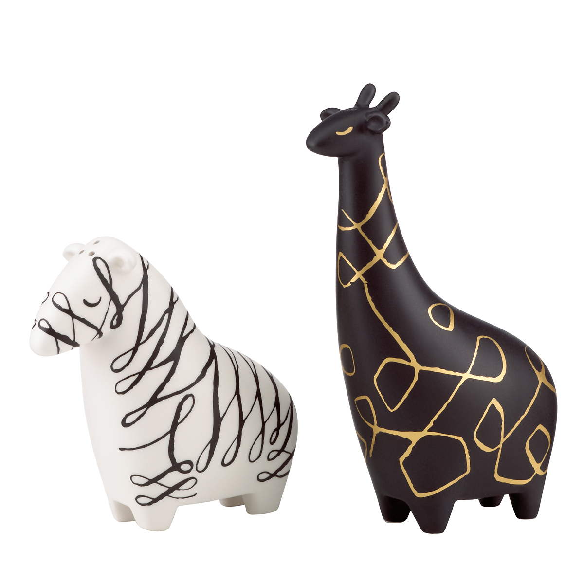 Kate Spade China by Lenox, Woodland Park Zebra And Giraffe Salt And Pepper