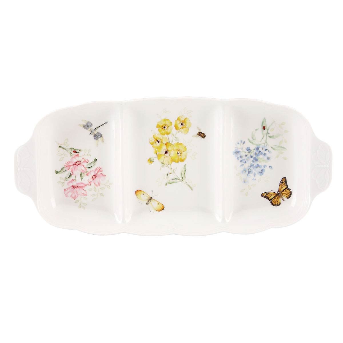 Lenox Butterfly Meadow Dinnerware Div Server 3Pt