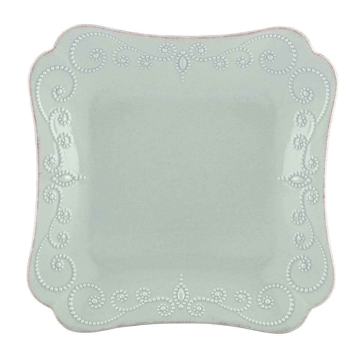 Lenox French Perle Blue Dinnerware Square Dinner Plate