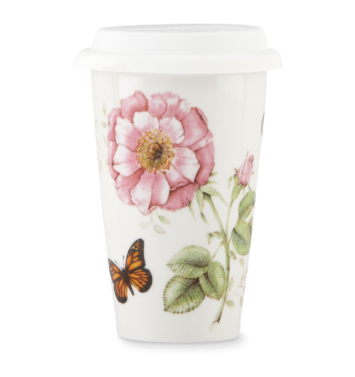 Lenox Butterfly Meadow Dinnerware Thermal Travel Mug