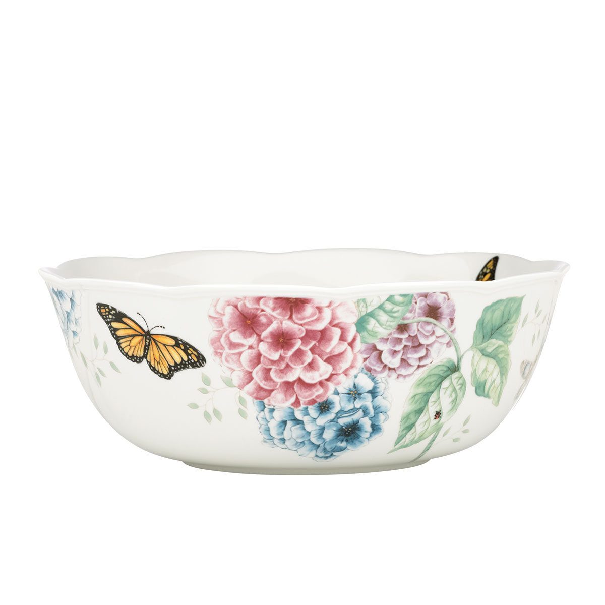 Lenox Butterfly Meadow Hydrangea Dinnerware Serving Bowl