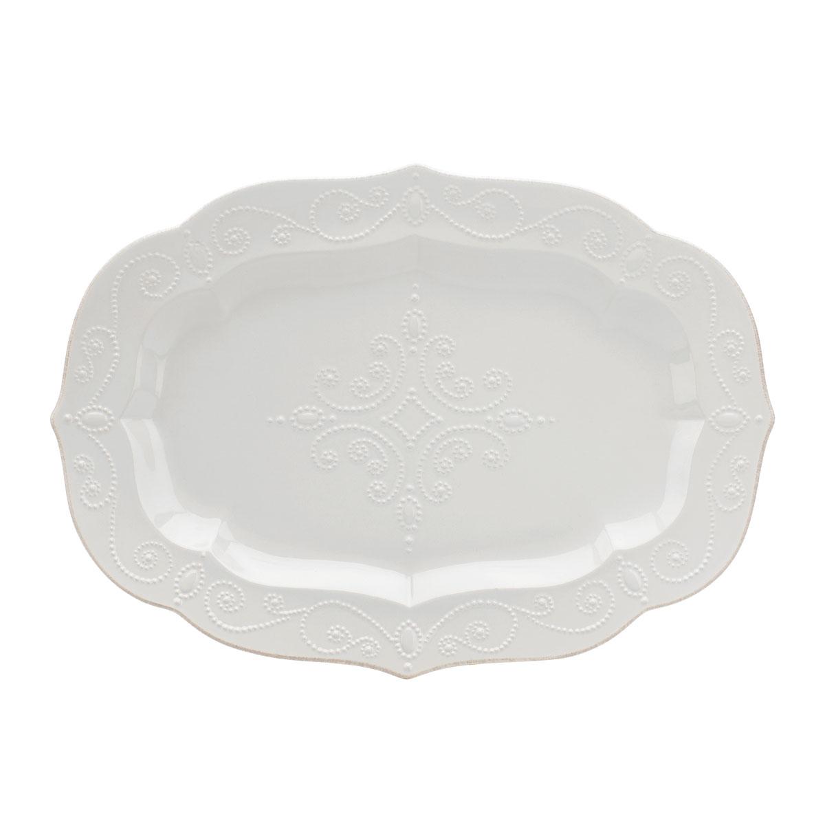 """Lenox French Perle White Dinnerware Large Serving Platter 18.5"""""""