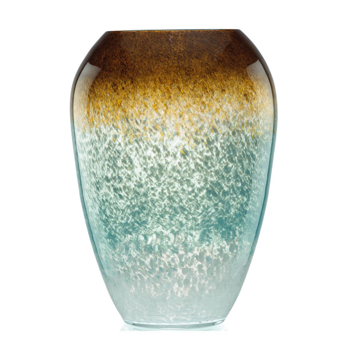 "Lenox Seaview 12 "" Ombre Urn Crystal Vase"