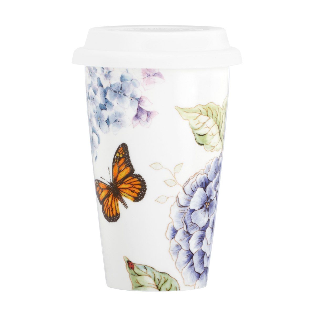Lenox Butterfly Meadow Blue Dinnerware Thermal Travel Mug