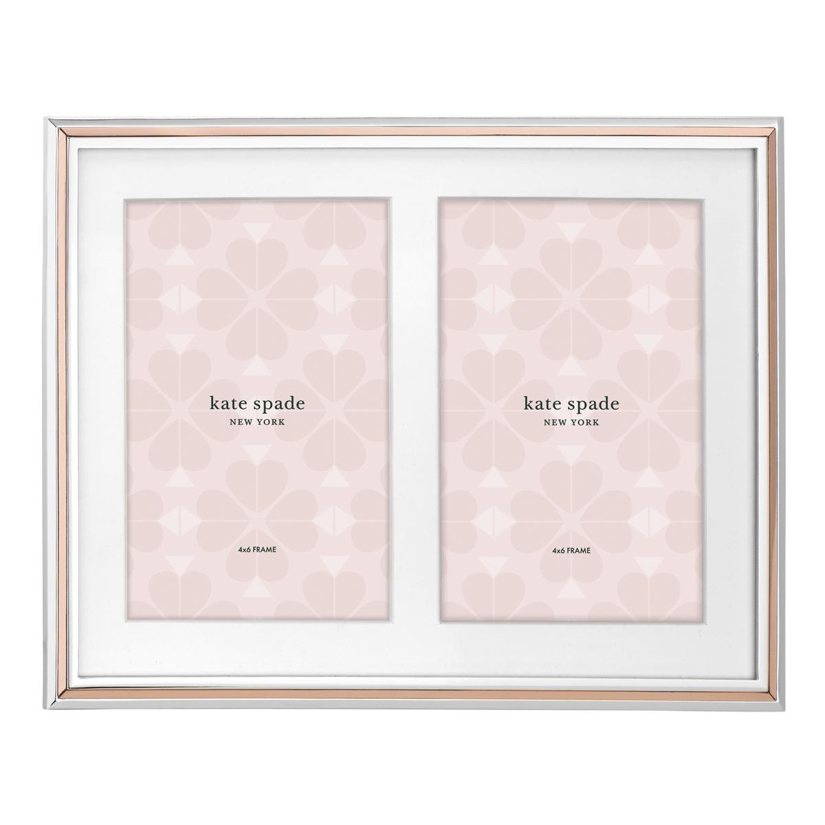 Kate Spade New York, Lenox Rosy Glow Double Invitation Frame