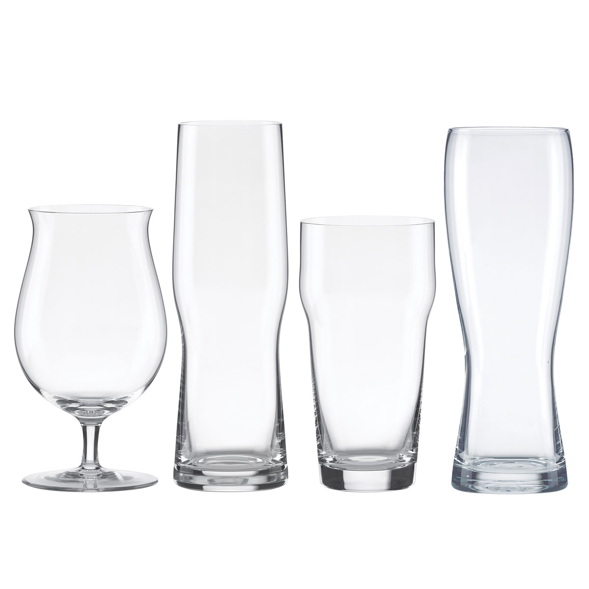 Lenox Tuscany Assorted Crystal Beer Glasses, Set of 4