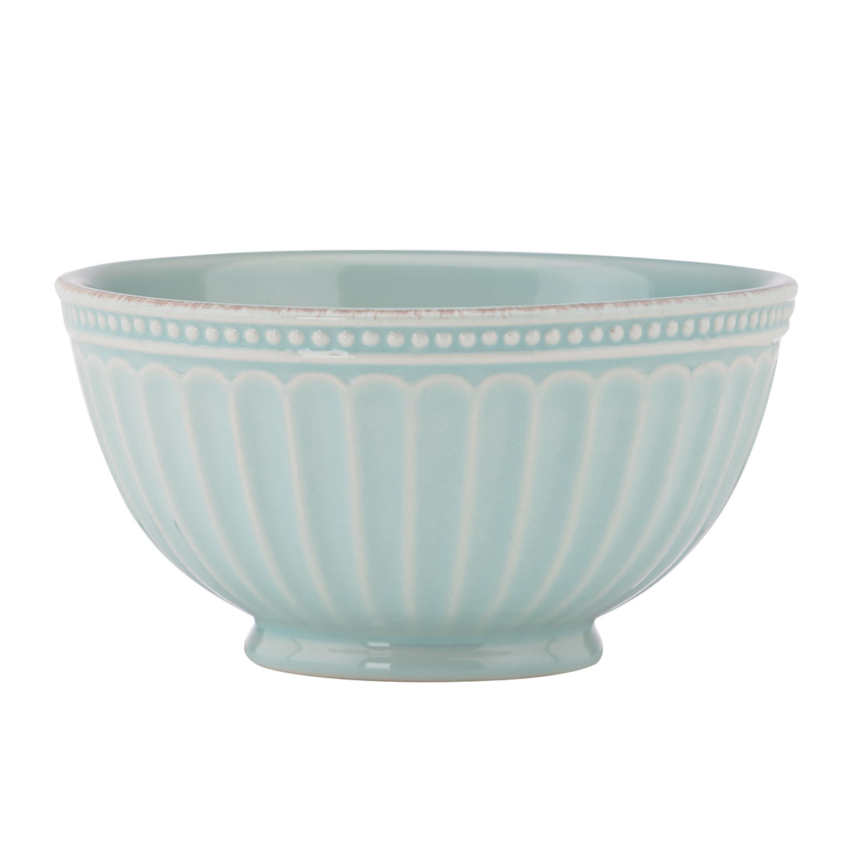 "Lenox French Perle Groove Ice Blue 6"" Dinnerware Bowl, Single"