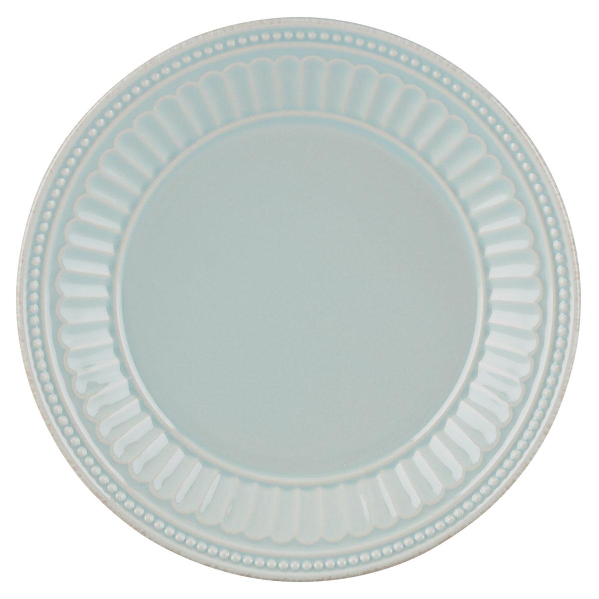 Lenox French Perle Groove Ice Blue Dinnerware Dessert Plate