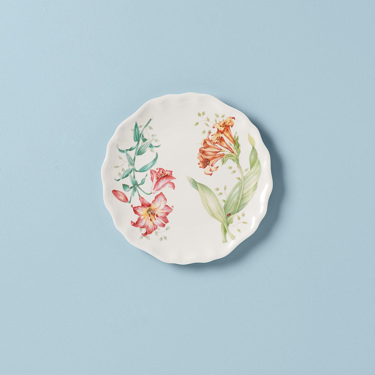 Lenox Butterfly Meadow Melamine Dinnerware Accent Plate