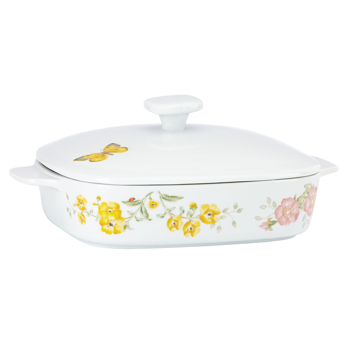 Lenox Butterfly Meadow Bakeware Covered Casserole