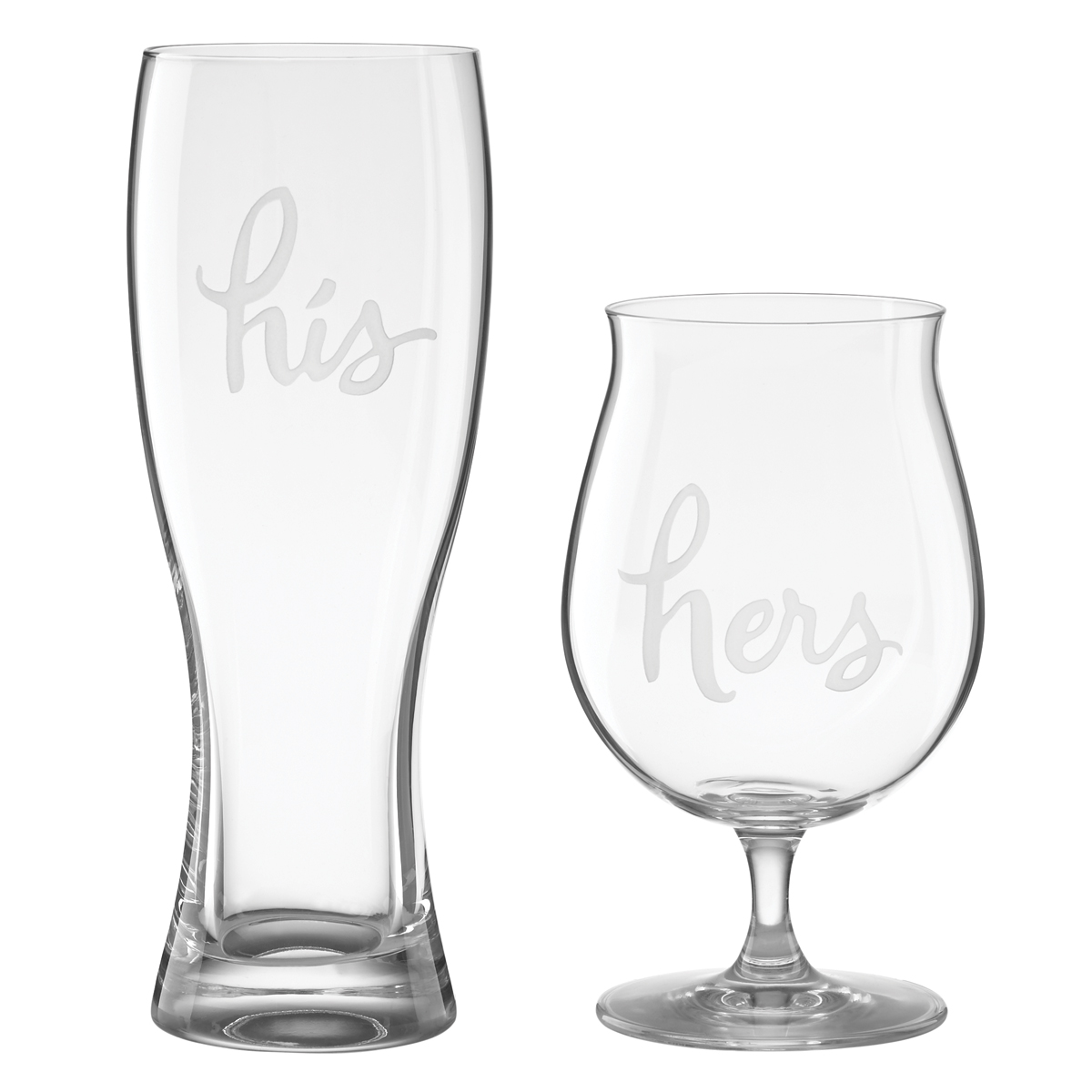 Kate Spade New York, Lenox Two of a Kind His and Hers Beer Glasses