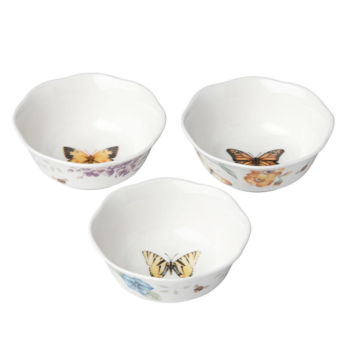 Lenox Butterfly Meadow Dinnerware Prep Bowl Set Of Three