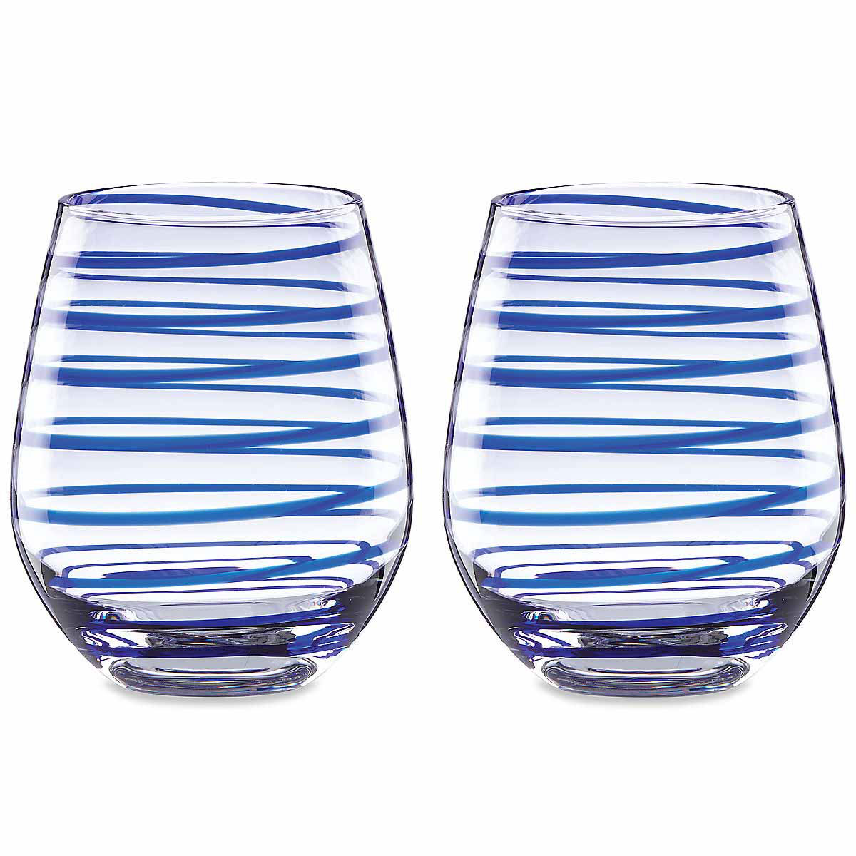 Kate Spade New York, Lenox Charlotte Street Stemless Crystal Wine, Pair