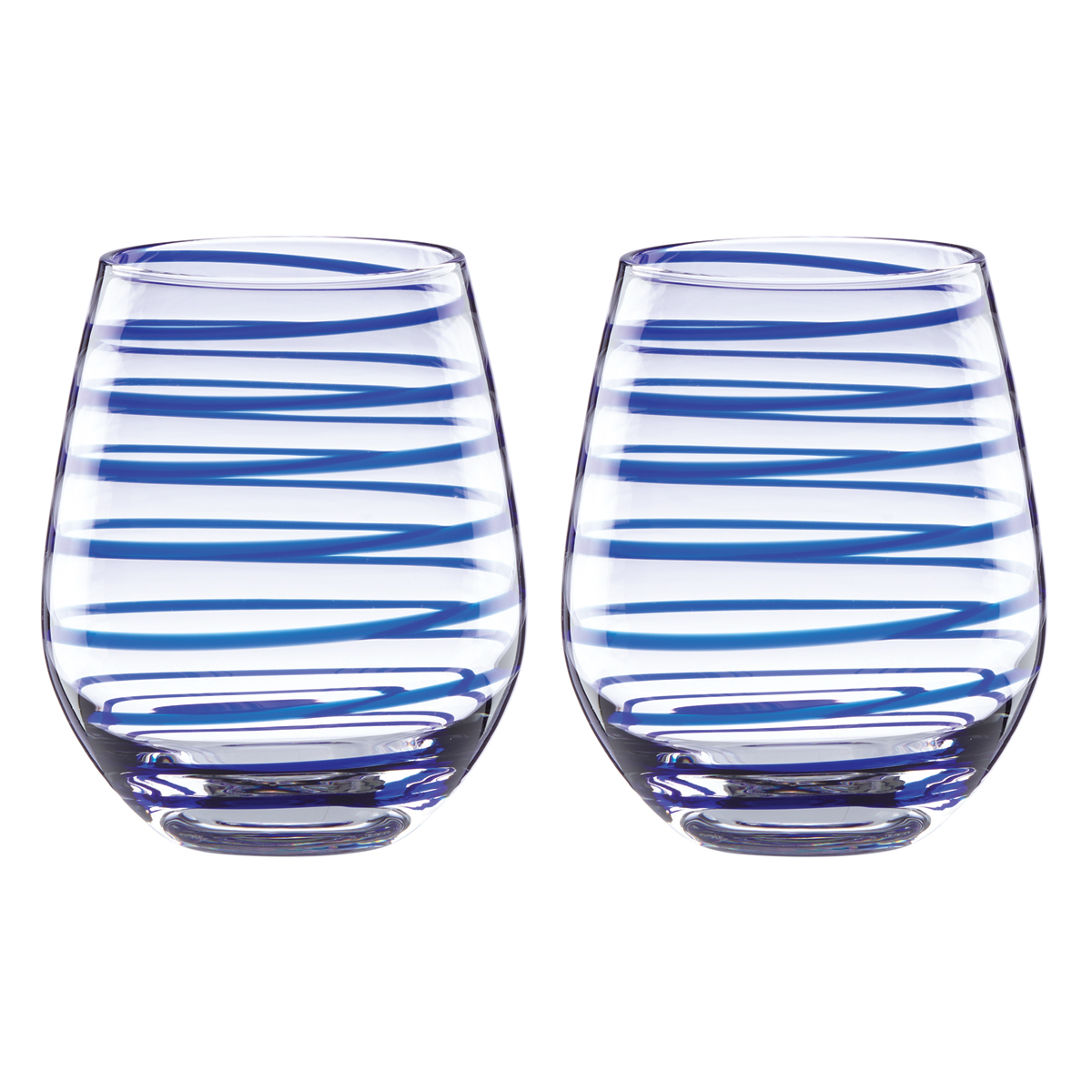 Kate Spade New York, Lenox Charlotte Street Stemless Crystal Wine, Pair