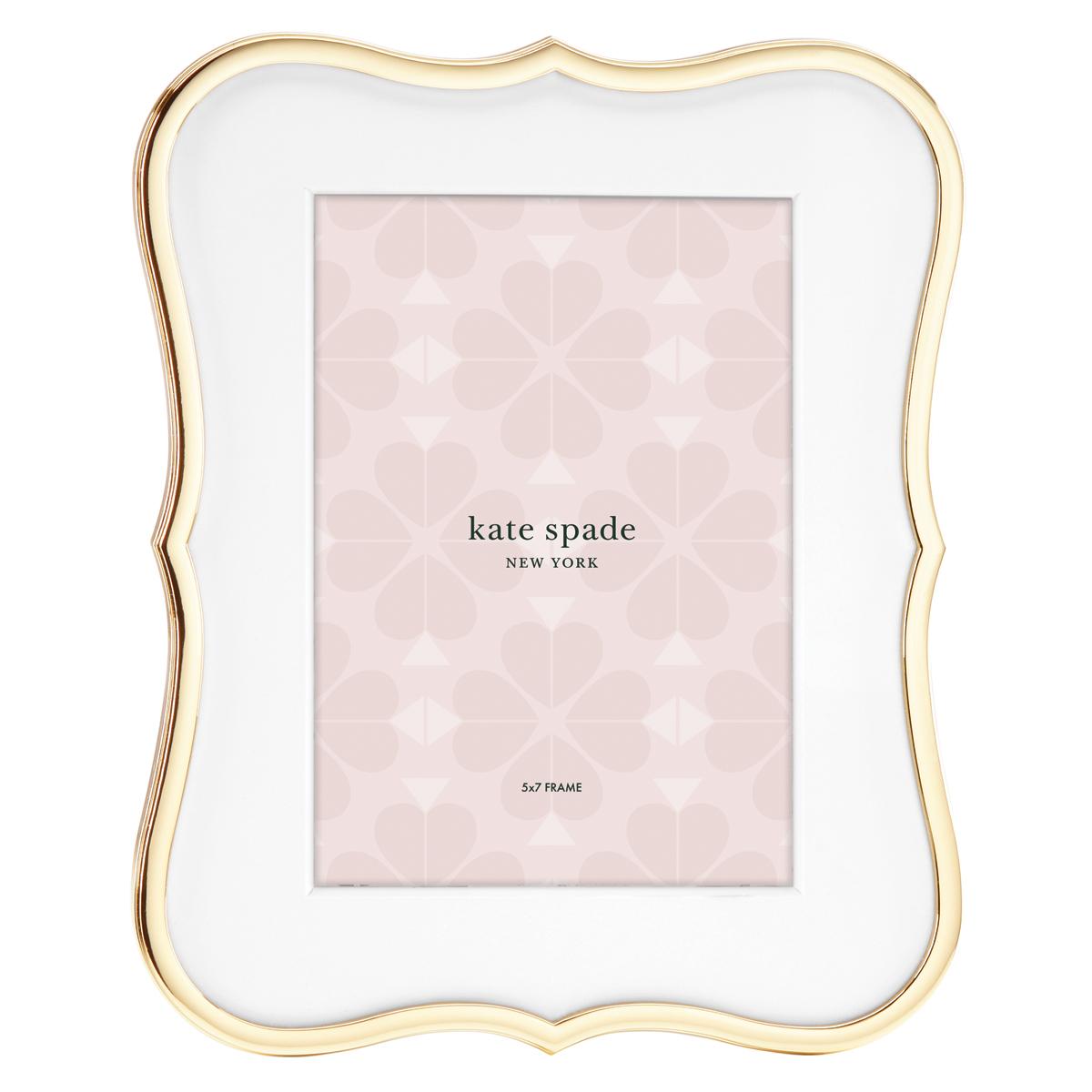 "Kate Spade New York, Lenox Crown Pt Gold Frame 5x7"""