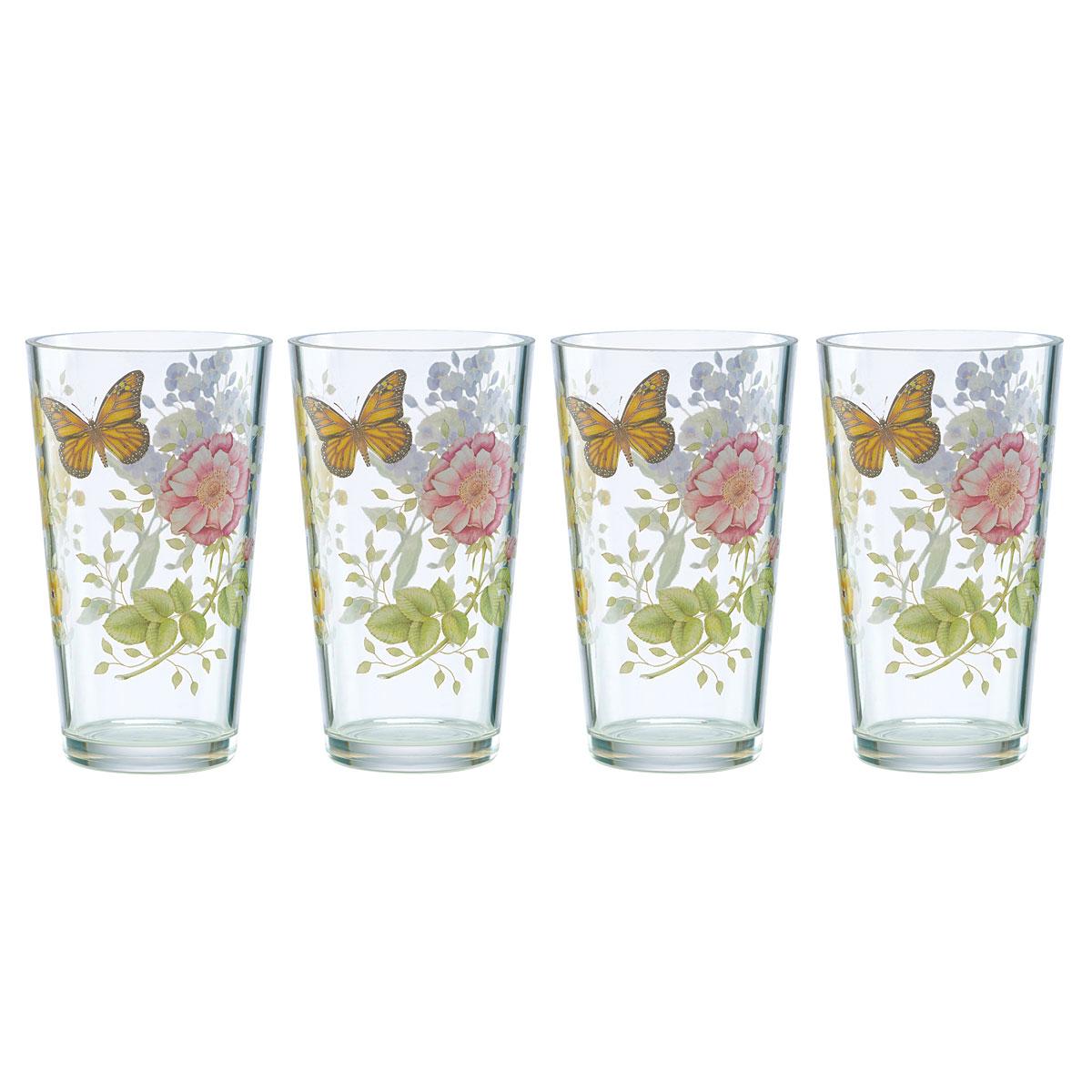 Lenox Butterfly Meadow Acrylic Highball Set Of Four