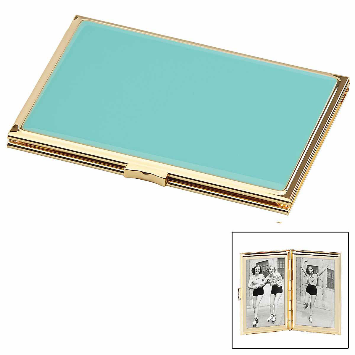Kate Spade New York, Lenox Outpost Gifting Hinged Pocket Frame, Turquoise