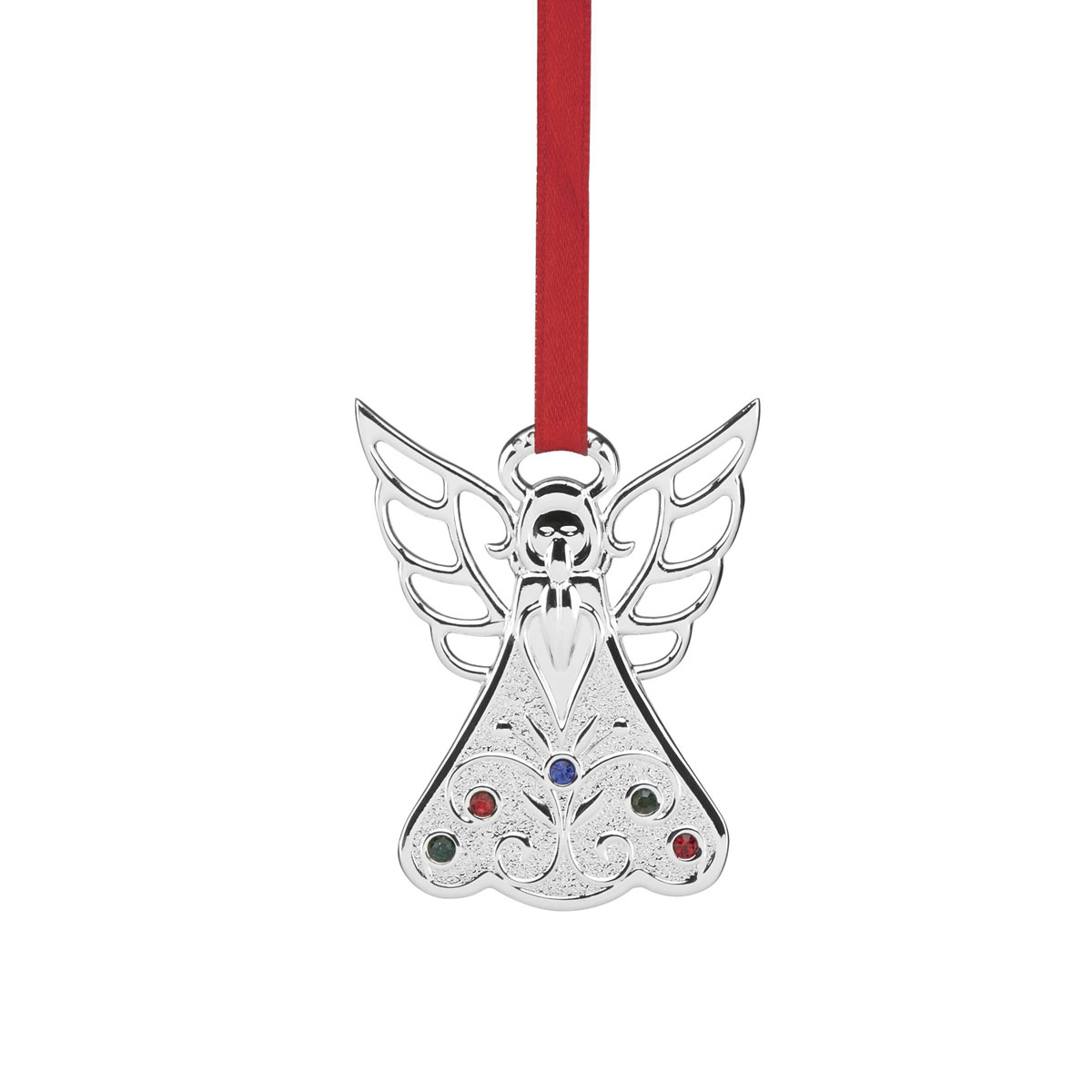 Lenox Jeweled Silver Angel Ornament
