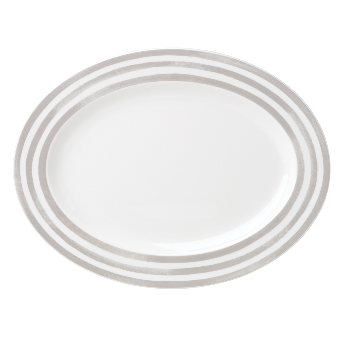 Kate Spade China by Lenox, Charlotte St Grey Oval Platter 16