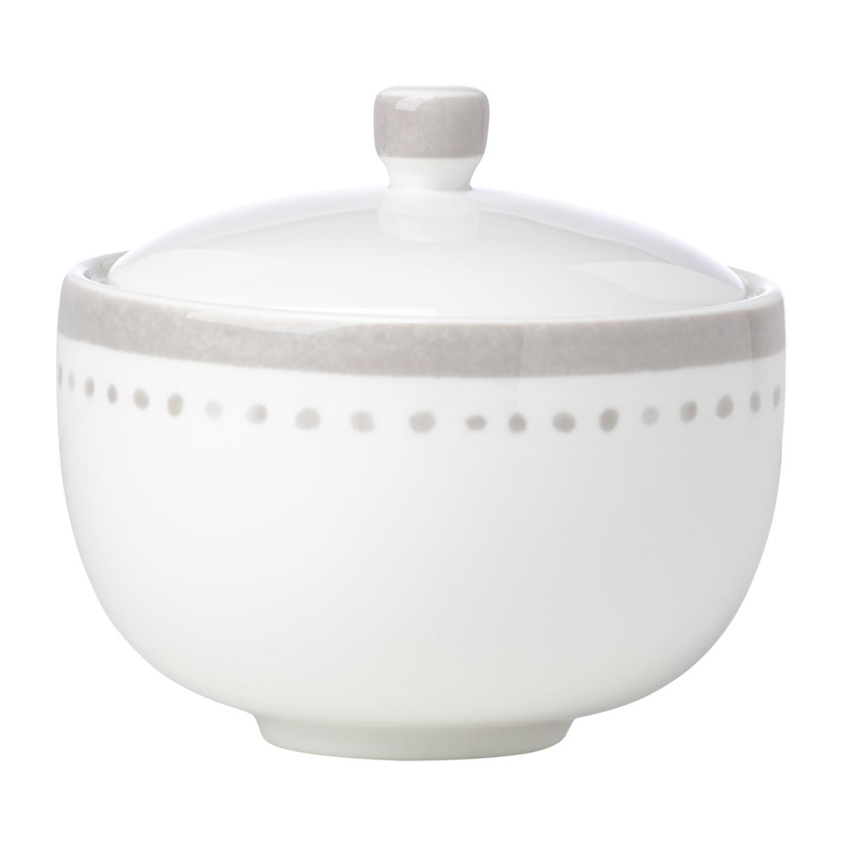Kate Spade China by Lenox, Charlotte St Grey Sugar Bowl