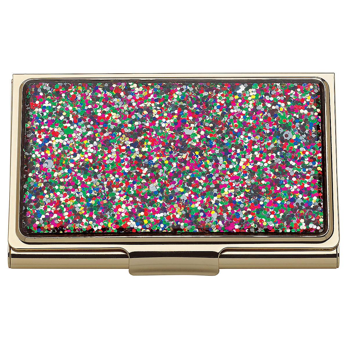 Kate Spade New York, Lenox Simply Sparkling Multi Glitter Business Card Holder