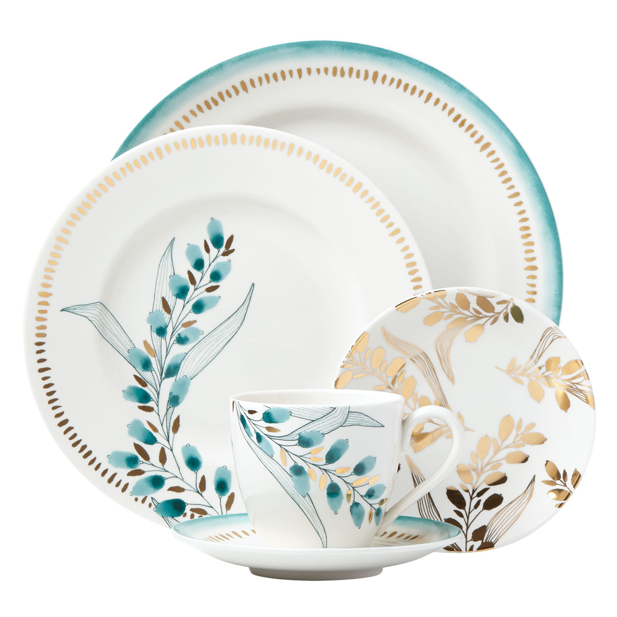 Lenox Goldenrod Dinnerware 5 Piece Place Setting
