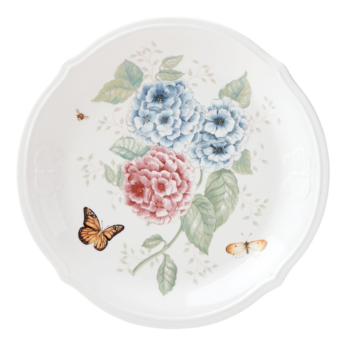 Lenox Butterfly Meadow Hydrangea Dinnerware Round Platter