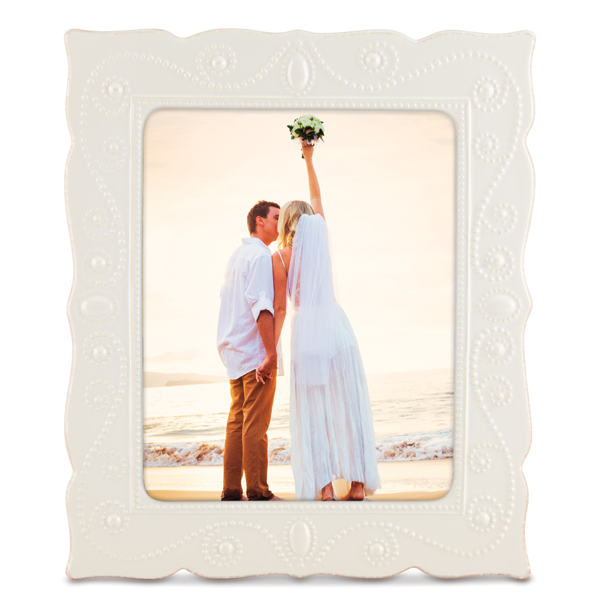 "Lenox French Perle White 8"" x 10"" Picture Frame"
