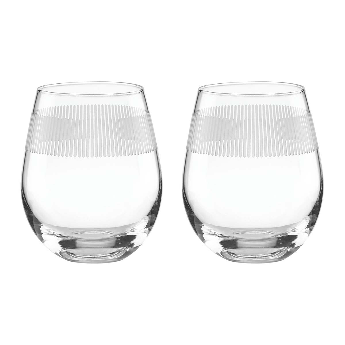 Kate Spade New York, Lenox York Avenue Stemless Crystal Wine, Pair