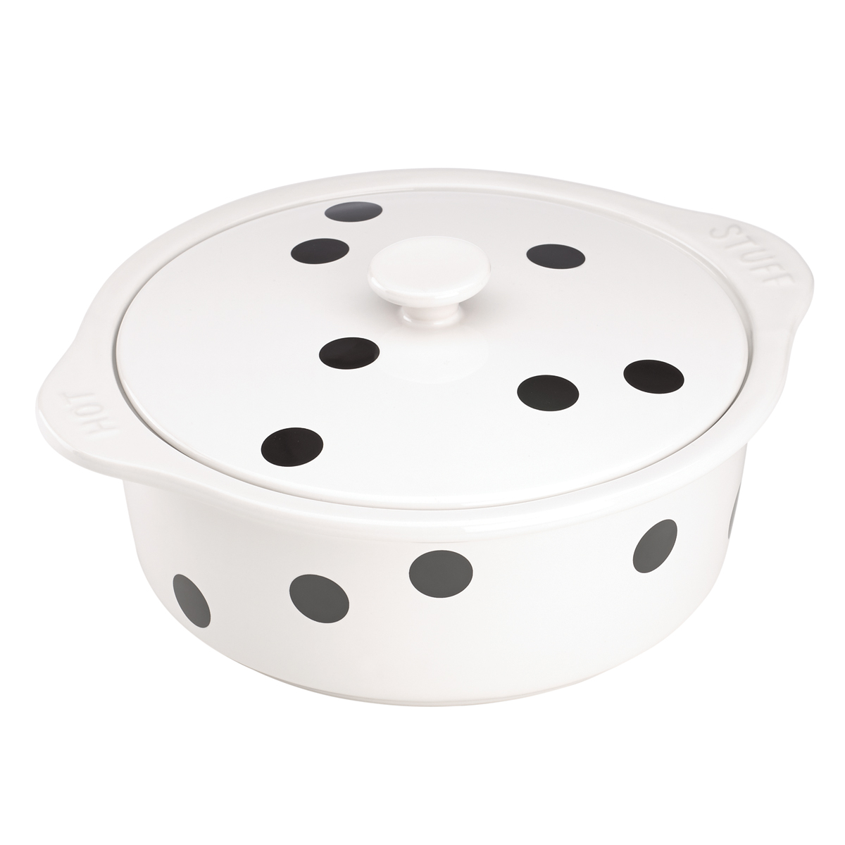 Kate Spade China by Lenox, Deco Dot Covered Casserole