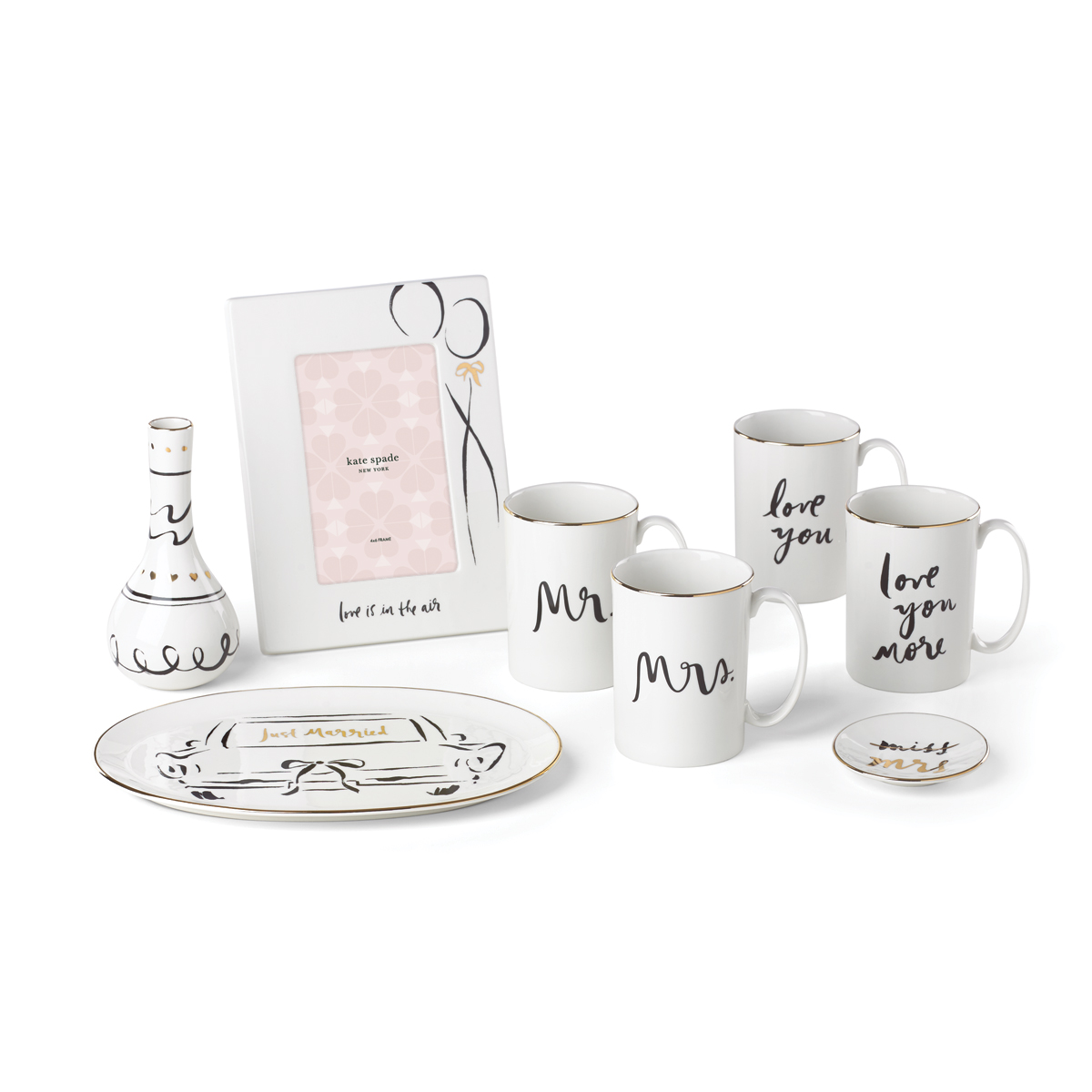 Kate Spade New York, Lenox Bridal Party Mr and Mrs Mug Set