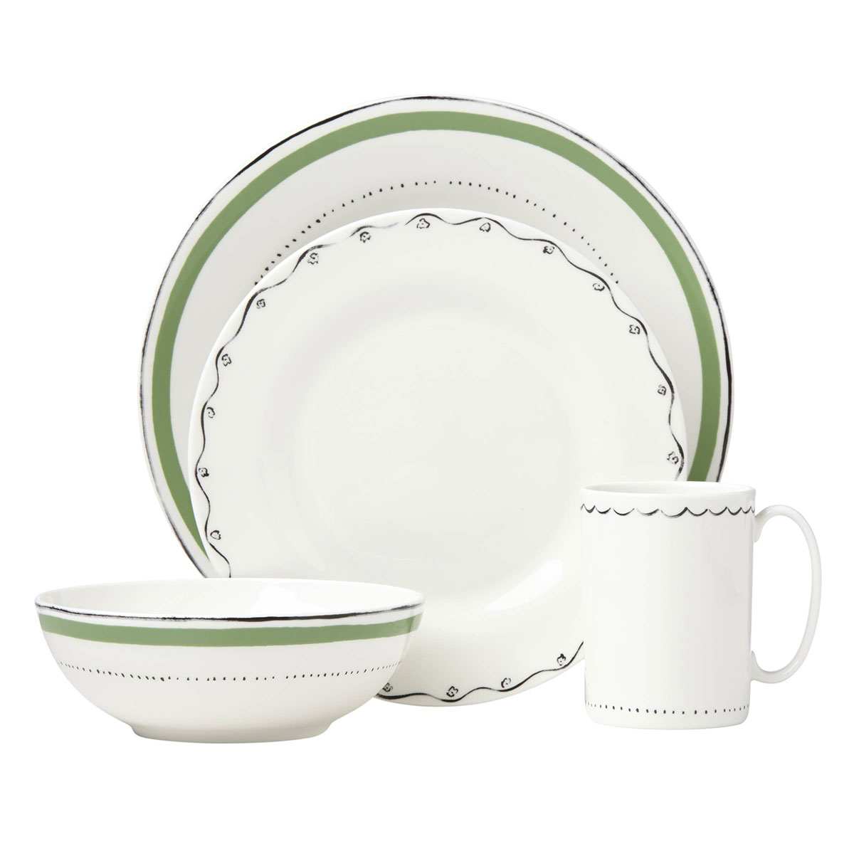 Kate Spade New York, Lenox Union Square Green 4 Piece Place Setting