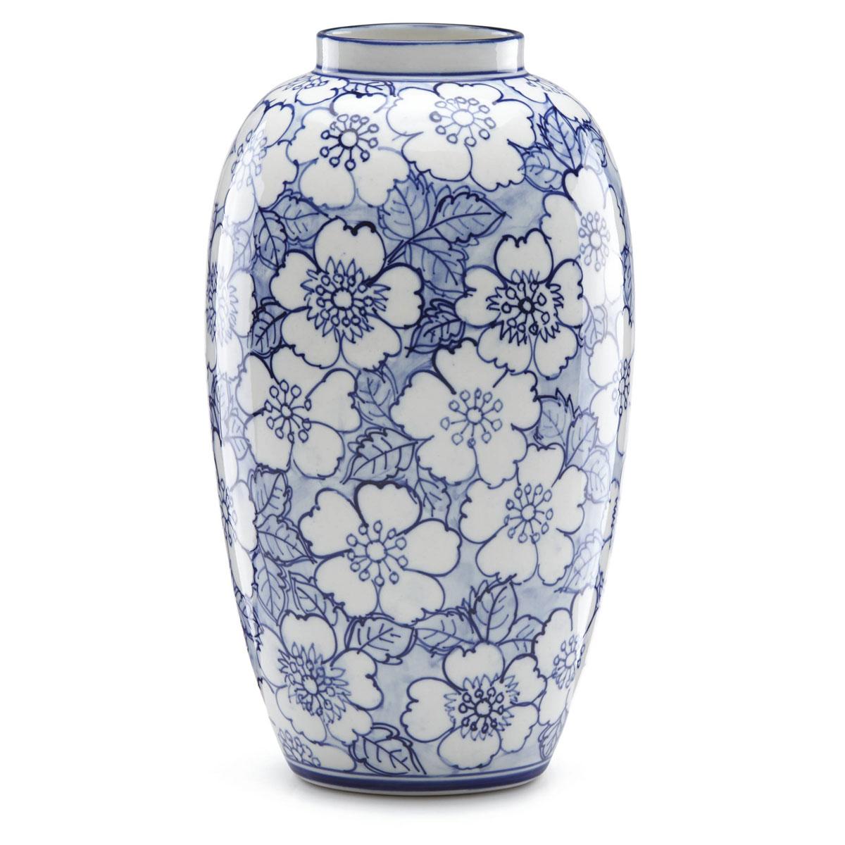 Lenox China Painted Indigo Floral Tall Vase