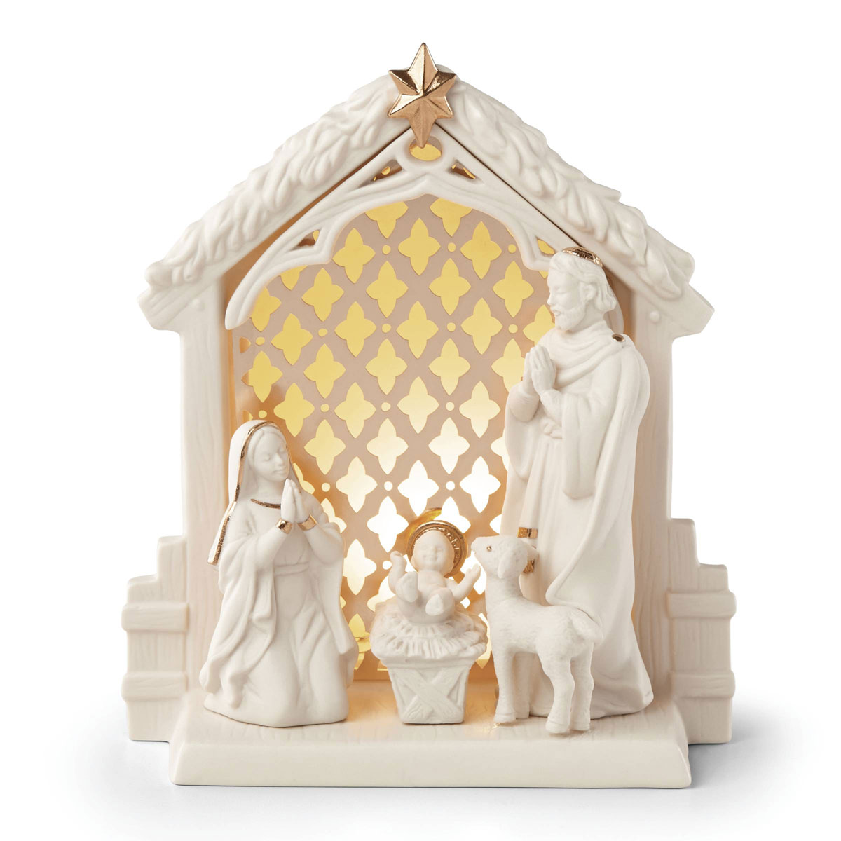 Lenox Illuminations Lit Nativity Christmas Scene