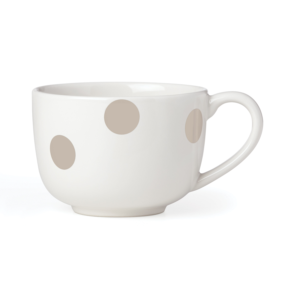 Kate Spade China by Lenox, Deco Dot Beige Latte Mug