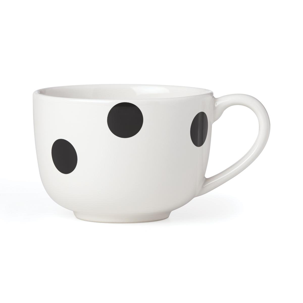 Kate Spade China by Lenox, Deco Dot Black Latte Mug, Single