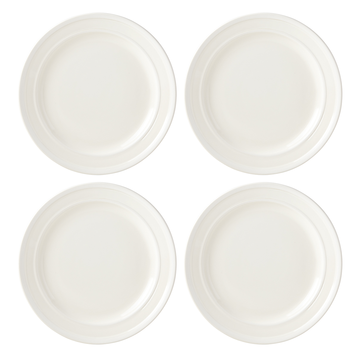 Kate Spade China by Lenox, Sculpted Stripe Cream Dinner Plate Set Of Four