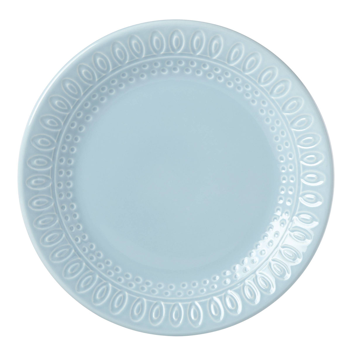Kate Spade China by Lenox, Willow Drive Blue Accent Plate
