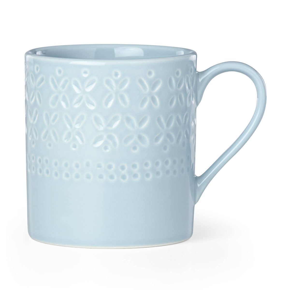 Kate Spade China by Lenox, Stoneware Willow Drive Blue Mug