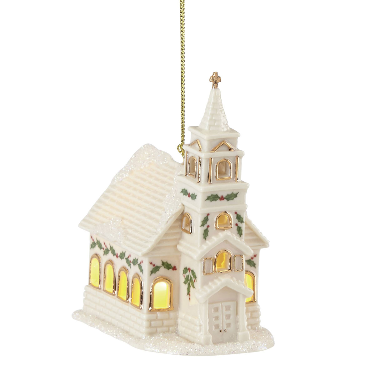 Lenox 2021 Christmas Village Lit Church Ornament