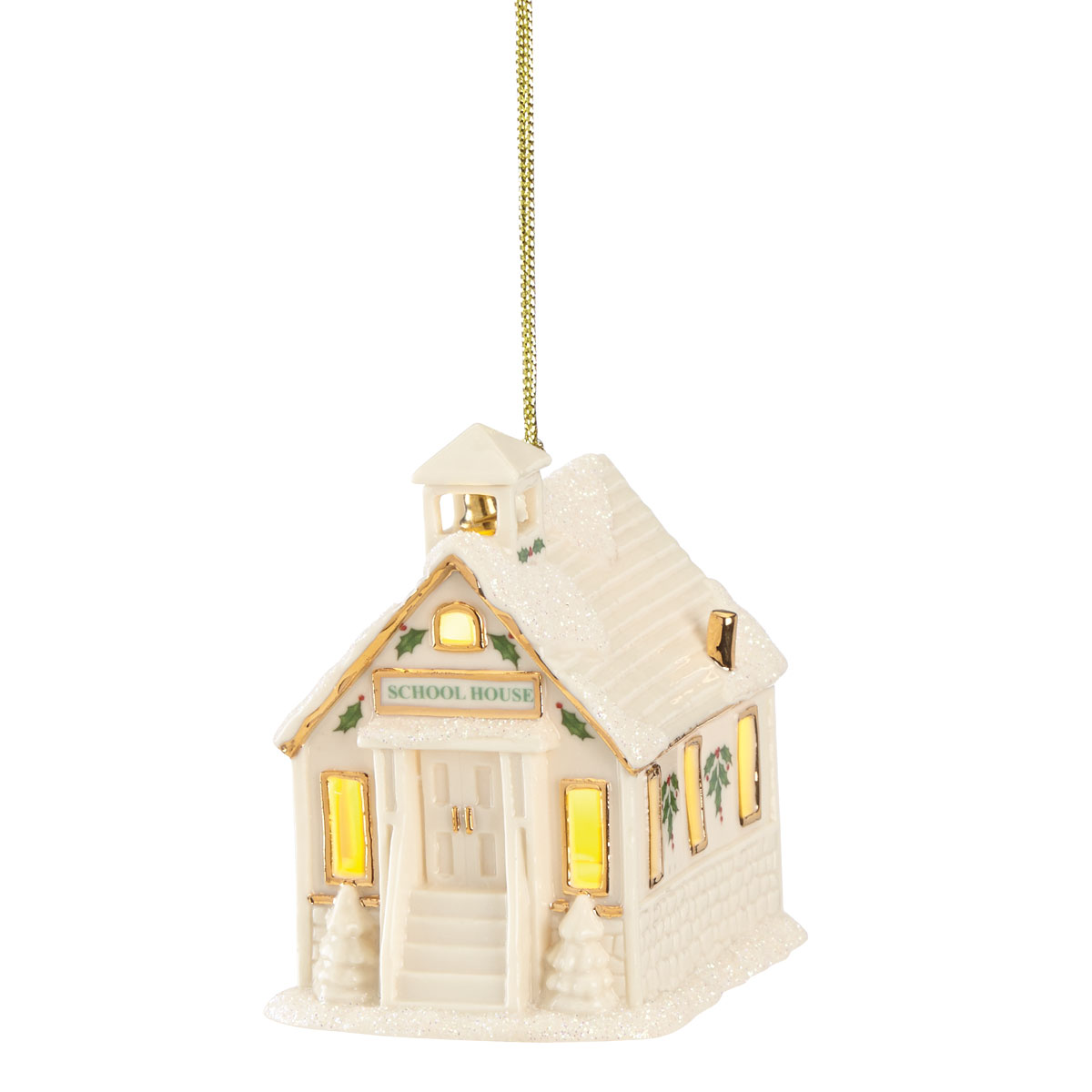 Lenox 2021 Christmas Village Lit Schoolhouse Ornament