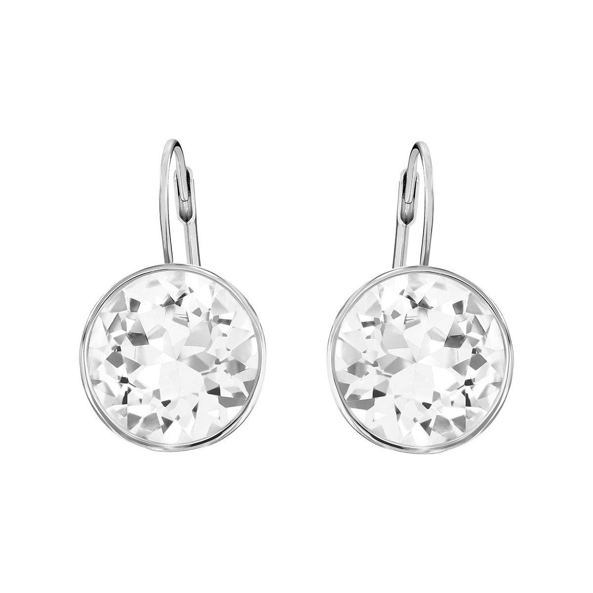 Swarovski Bella Clear and Rhodium Pierced Earrings, Pair